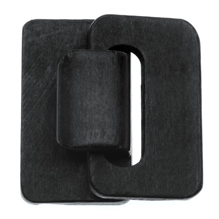 Dazzle-It! Wood Hook and Eye Clasp, 5 Strand 45x45mm, 1 Set, Black 3 Strand Hook Clasp