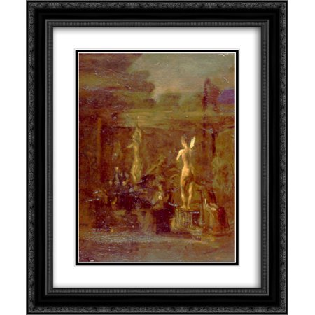 Thomas Eakins 2x Matted 20x24 Black Ornate Framed Art Print 'Compositional Study for William Rush Carving His Allegorical Figure of the Schuylkill River' ()