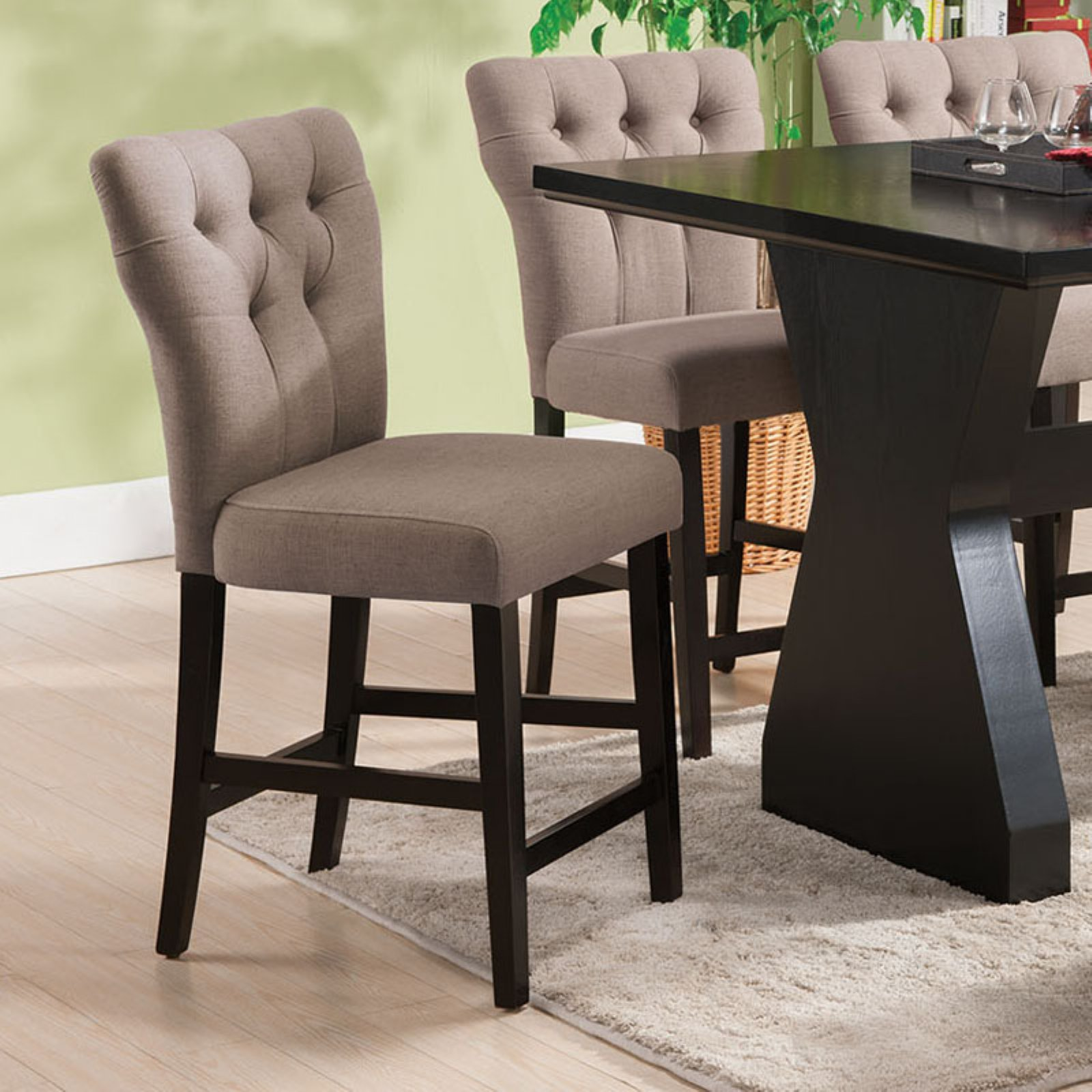Beau Acme Effie Espresso Counter Height Chair, Set Of 2
