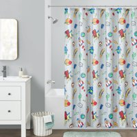 Your Zone Blast Off Printed Shower Curtain, 1 Each