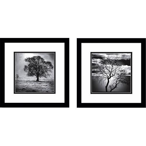 Black Amp White Lonely Tree Framed Art Set Of 2 Walmart Com