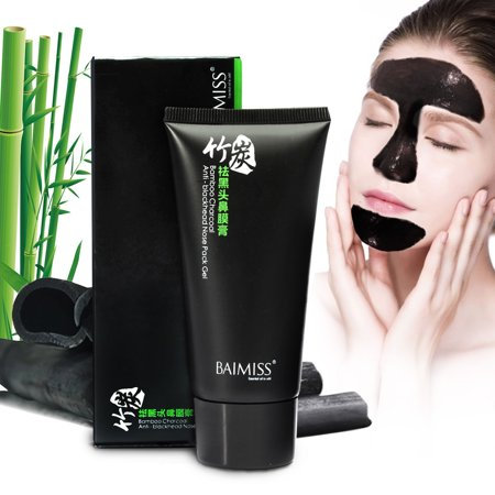 Bamboo Charcoal Mud Nose Blackhead Remover/Cleansing Peel Off Removal Mask/Black Mud Face Mask 50g