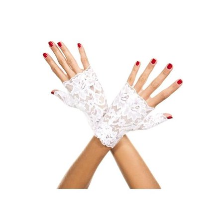 Adult Lace Fingerless Gloves - 2 Colors - Costume Accessory