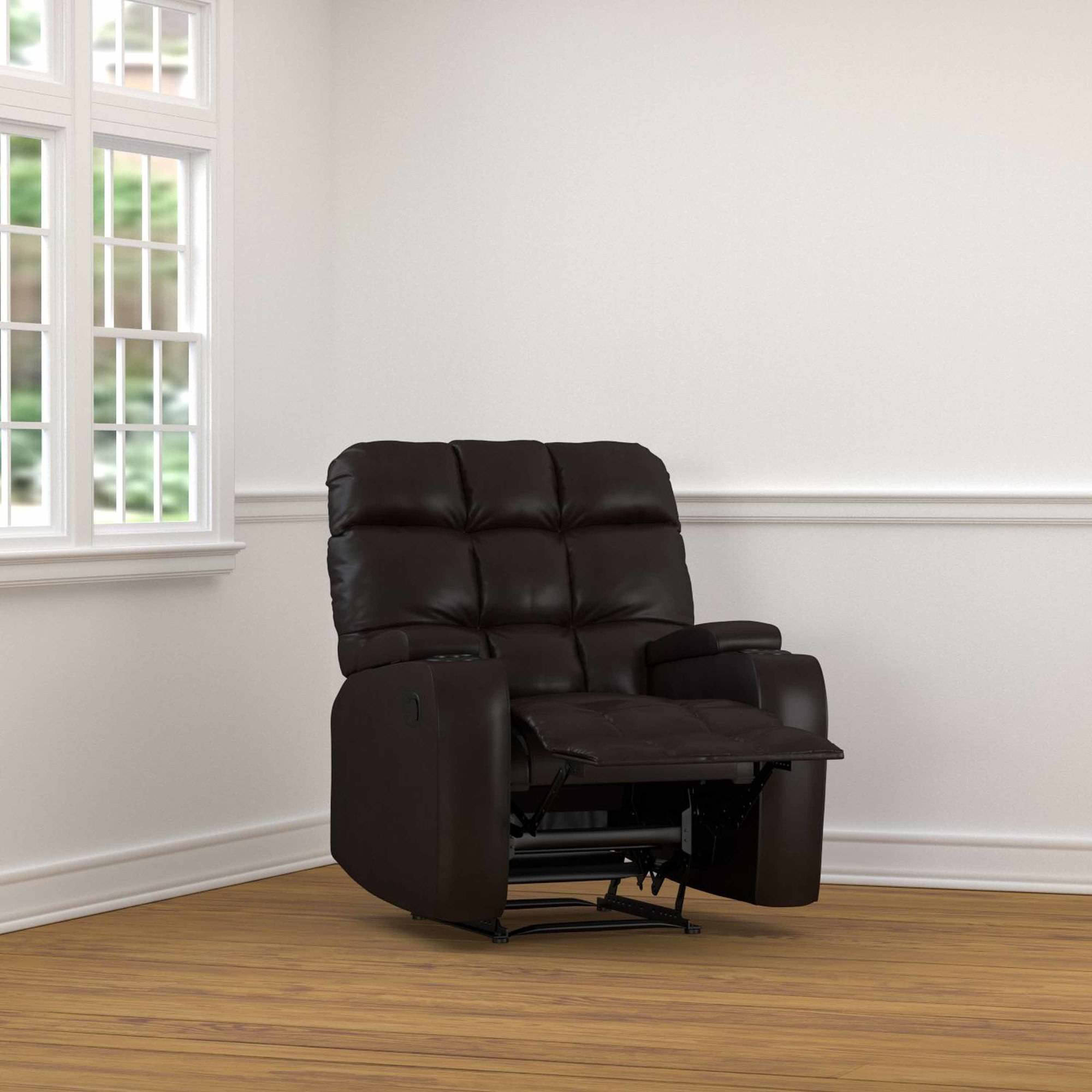 ProLounger Wall Hugger Storage Recliner Chair in Renu Leather