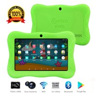 """Contixo K3 7"""" Educational 6.0 Android Tablet for Kids Learning Entertainment Apps Toys for Children Toddler Bluetooth WiFi Dual Camera Parental Control Kid-Proof Protective Case (Green)"""