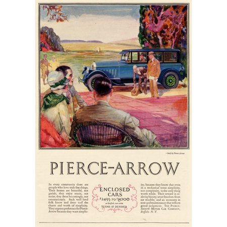 Unknown Buffalo - Magazine advertisment for the Pierce-Arrow motor car company of Buffalo NY Poster Print by Unknown