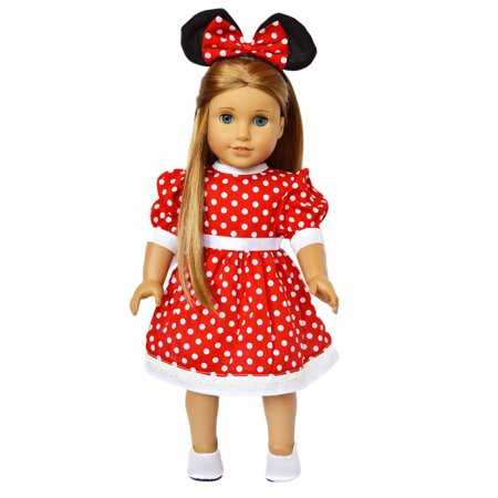 My Brittany's Red Mouse Dress for American Girl Dolls and My Life as Dolls- Doll and shoes are not included (American Girl Doll Shoes Red)