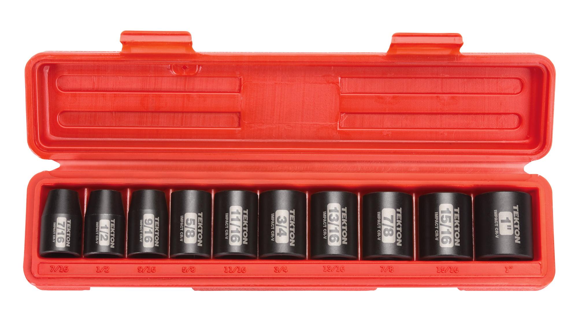 | SID92407 5//16-1-1//4 in., 8-32 mm TEKTON 1//2 Inch Drive 6-Point Impact Socket Set 87-Piece