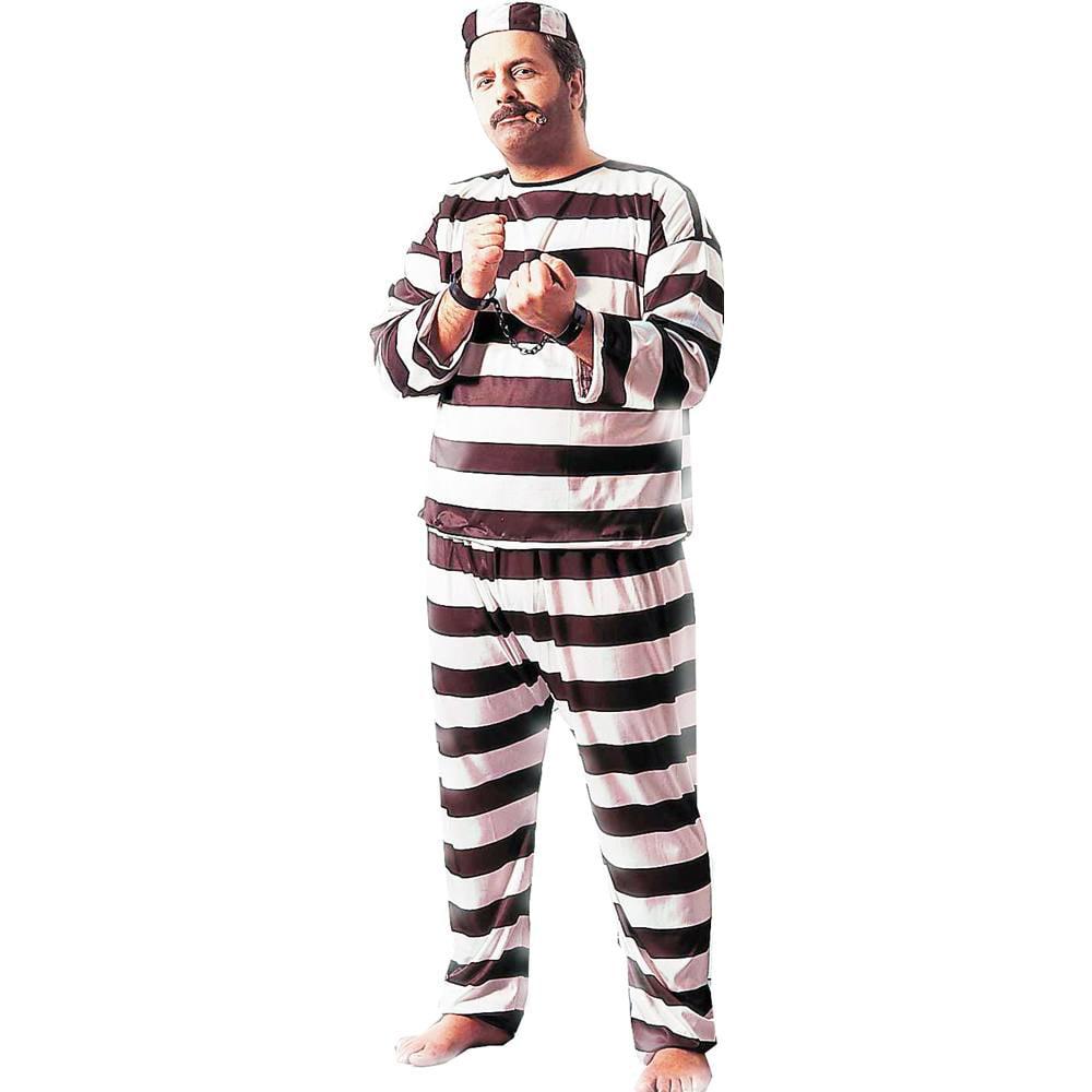 Convict Male Deluxe Plus Size Costume
