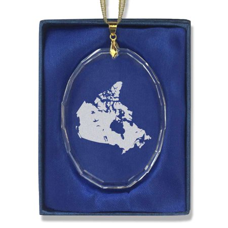 Oval Crystal Christmas Ornament - Country Silhouette Canada ()