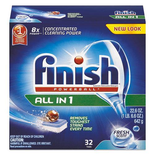 FINISH 23 Oz Powerball Dishwasher Tabs - Fresh Scent
