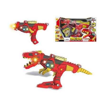 TOY GUN B/O DINOSAUR SPACE GUN W/LIGHT & SOUND 17