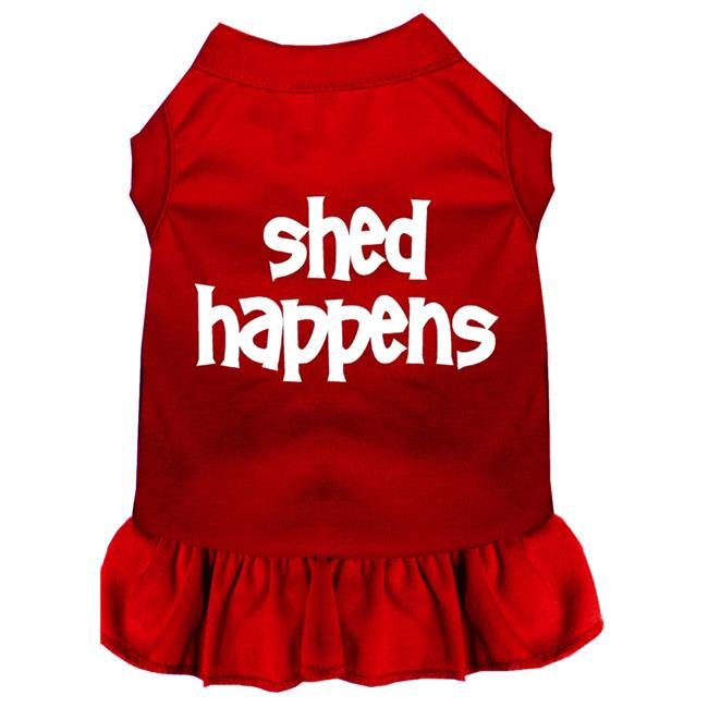 Shed Happens Screen Print Dress Red Med (12) - image 1 of 1