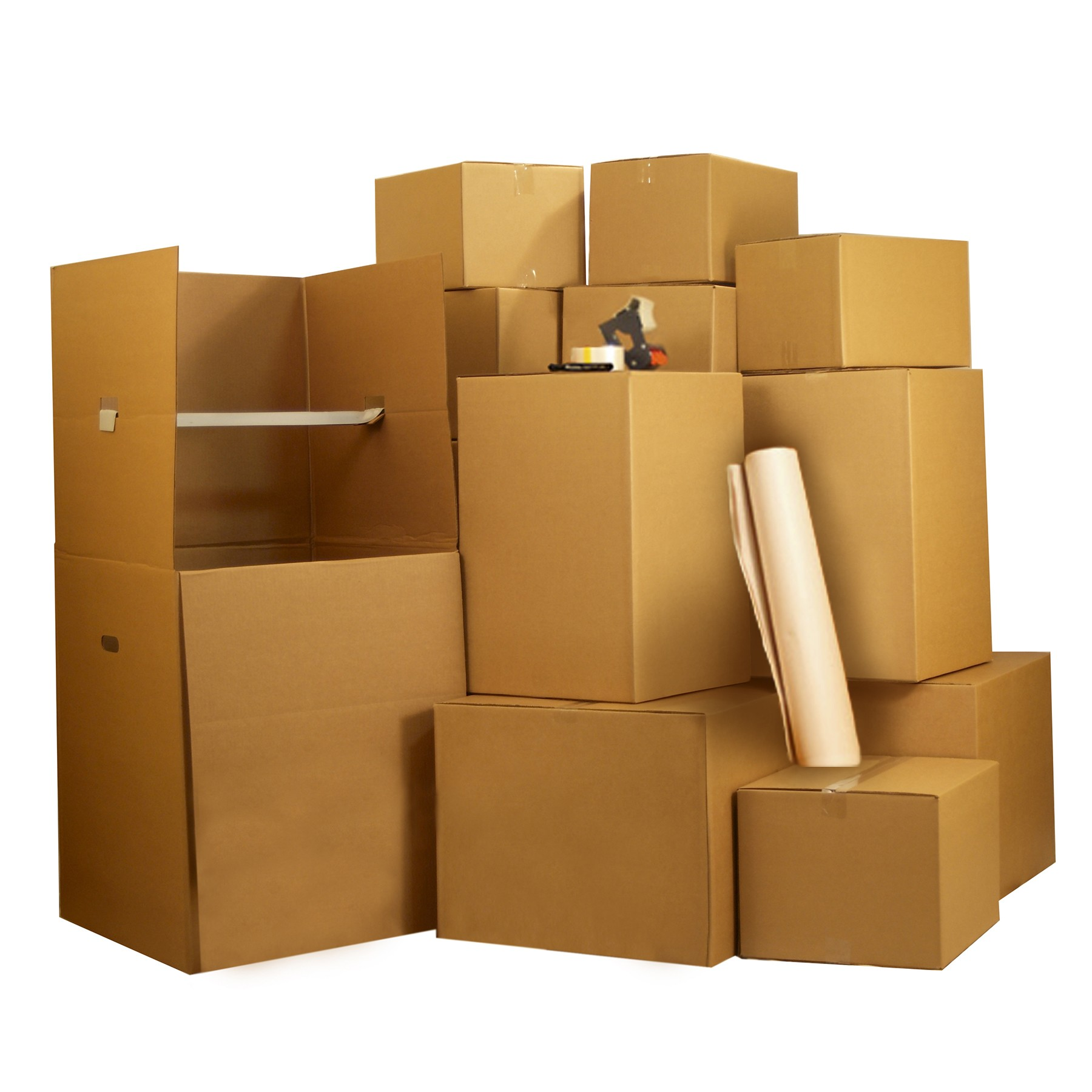 Uboxes 3 Room Wardrobe Kit, 33 Boxes, Bubble Roll, Moving Supplies