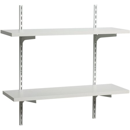 Generic Shelf-Made® White Finish 8 in. x 24 in. Adjustable Shelf Kit 8 pc Box