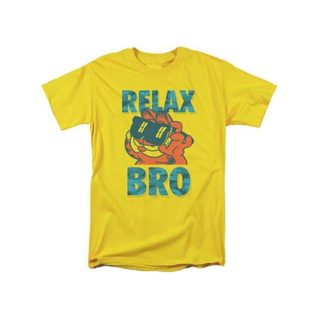 Garfield Comic Relax Bro Adult T-Shirt Tee