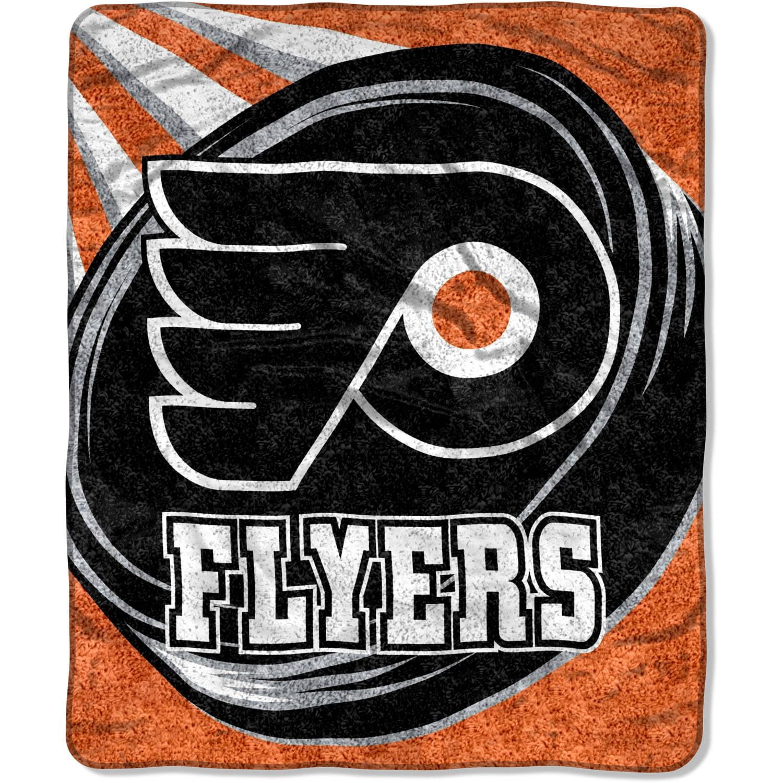 "NHL Philadelphia Flyers ""Puck"" 50"" x 60"" Sherpa Throw"