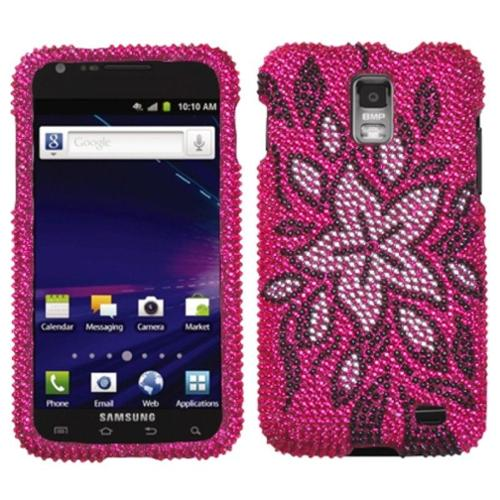 Insten Tasteful Flowers Diamante Case for SAMSUNG: i727 (Galaxy S II Skyrocket)