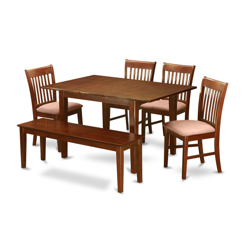 Wooden Importers Picasso 6 Piece Extendable Dining Set