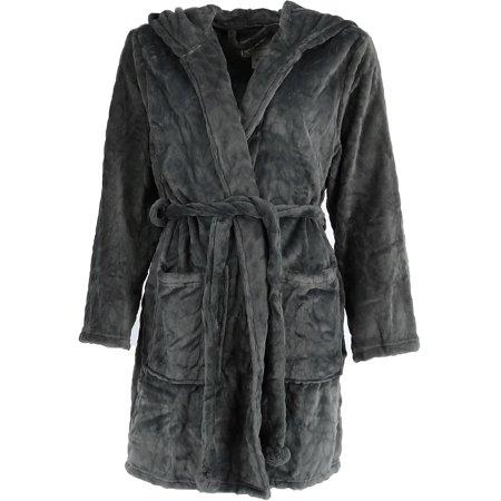 Women's Plush Hooded Short - Hooded Robes