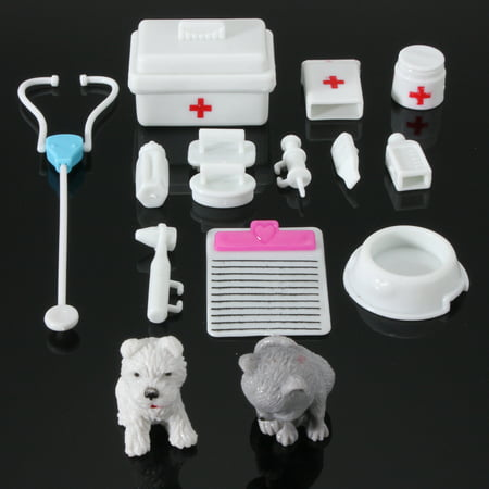 14Pcs Mini Medical Equipment Toys For Fashion Doll Dolls& House Accessories Set ()