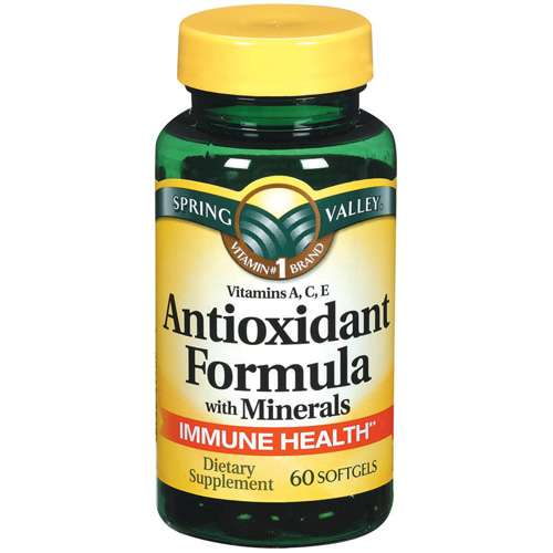 Spring Valley: Antioxidant Formula w/Minerals Softgels Dietary Supplement, 60 Ct