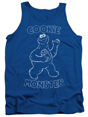 67312378 Product Image Sesame Street Classic TV Show Simple Cookie Monster Adult  Tank Top Shirt