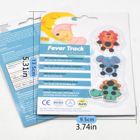 Cartoon forehead thermometer child forehead temperature sticker practical - image 4 de 7
