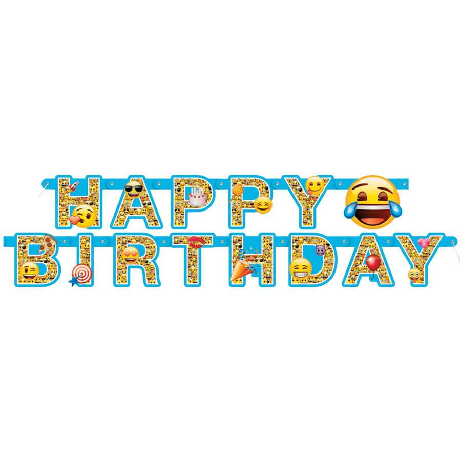 6' Emoji Birthday Banner