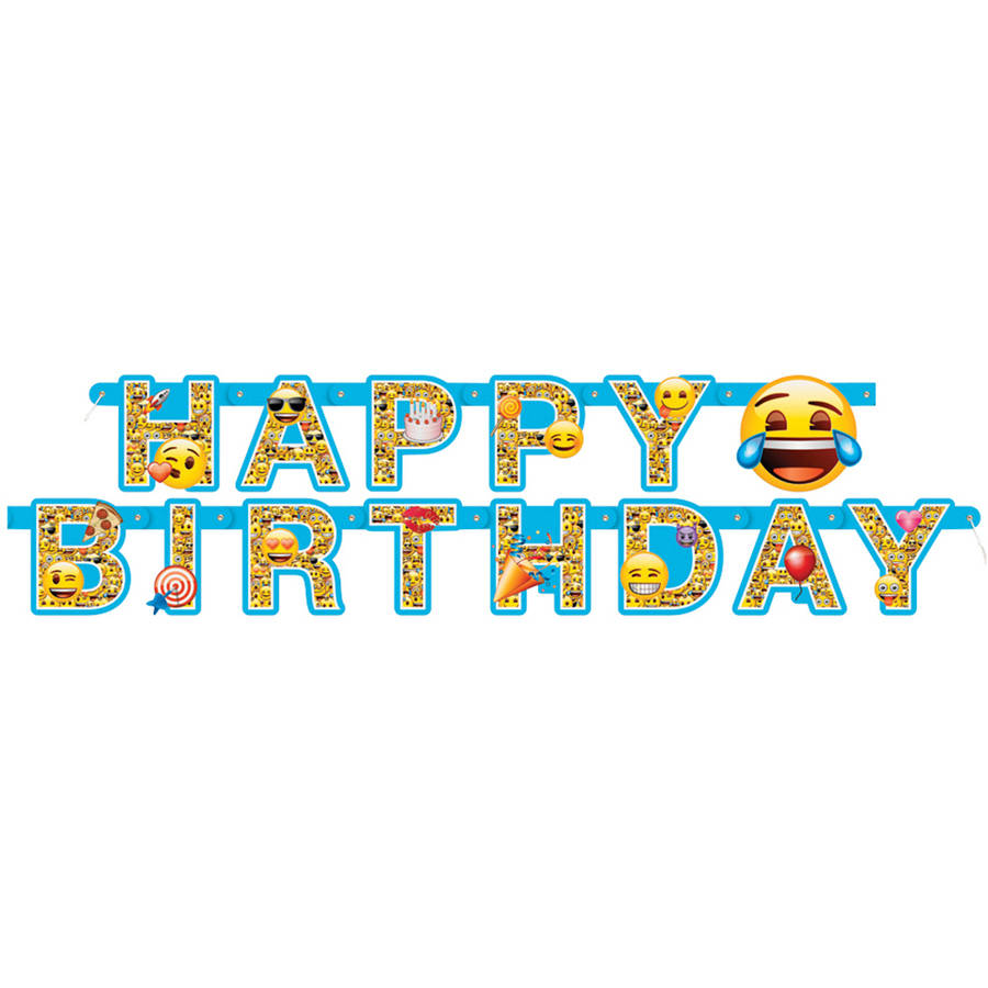 6' Emoji Birthday Banner