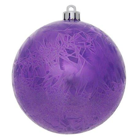 Vickerman N141010DV Magenta Crackle Drilled Ball Ornament, 4 in. - 6 per Bag - image 1 of 1