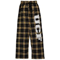 UCF Knights Youth Plaid Flannel Pants - Black