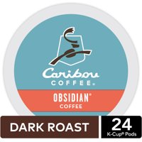 Caribou Coffee Obsidian K-Cup Pods, Dark Roast, 24 Count for Keurig Brewers