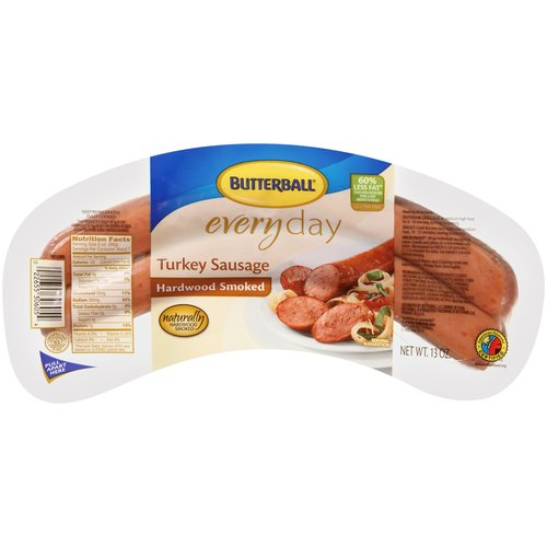 Butterball Every Day Hardwood Smoked Turkey Sausage, 14 oz