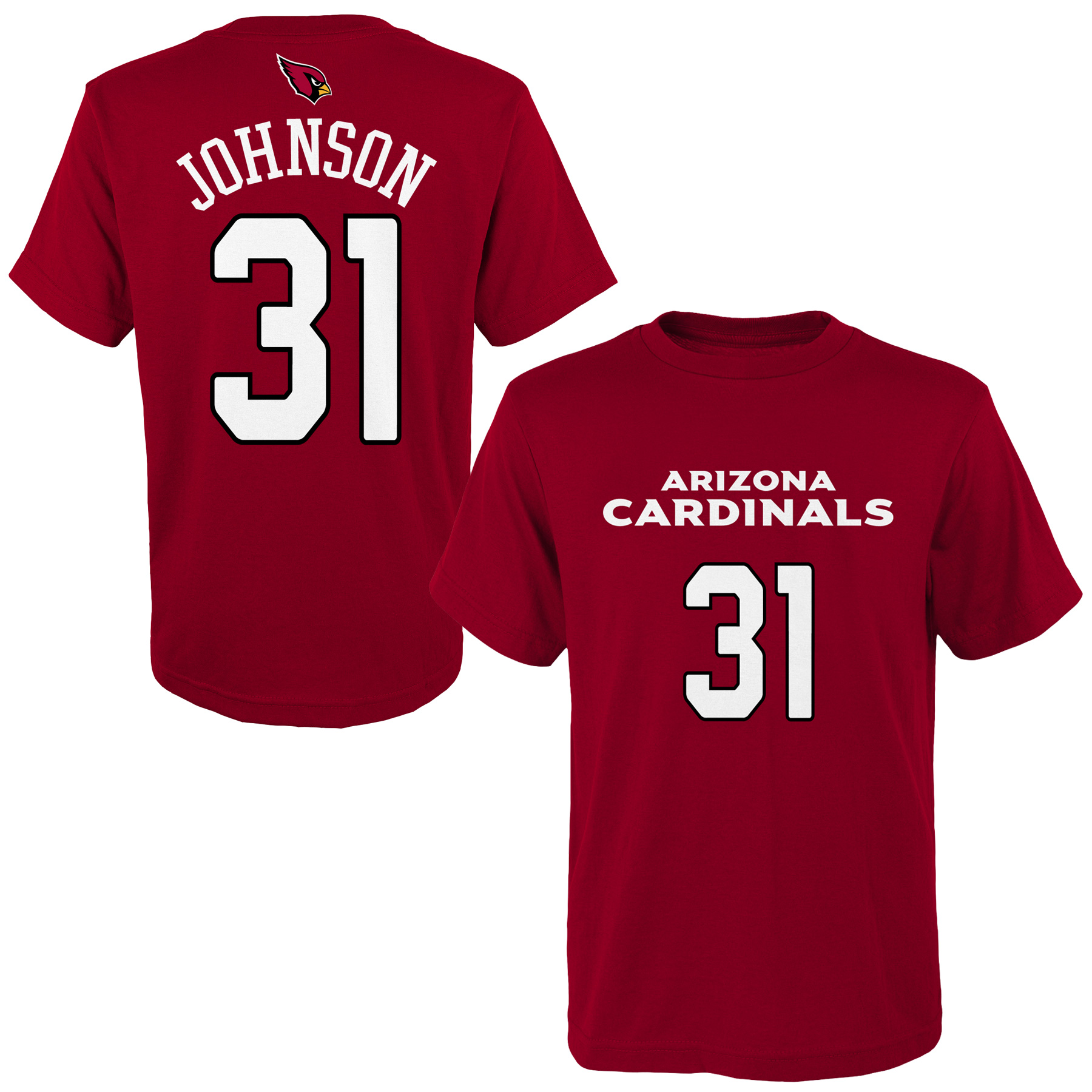 David Johnson Arizona Cardinals Youth Mainliner Name & Number T-Shirt - Cardinal