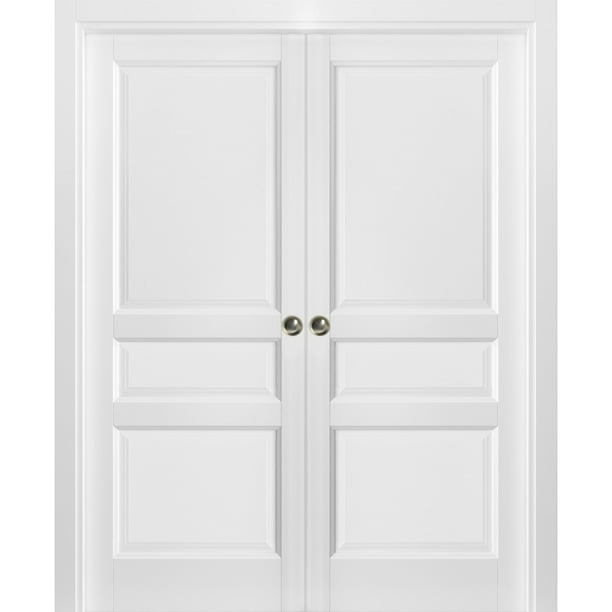 French Double Pocket Doors 72 X 80 With