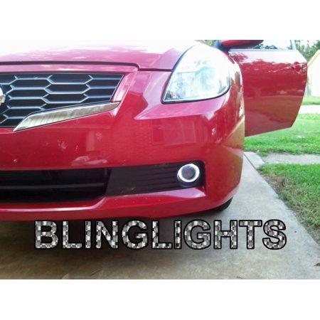 New 2007-2012 Nissan Altima Sedan Couple Angel Eye Fog Lamps Driving Lights Coupe Driving Fog Light Lamp