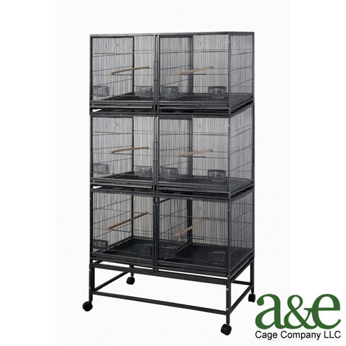 A&E Cage Co. 3 Level Bird Cage with 3 Removable Dividers and 6 Units by A&E Cage Co.