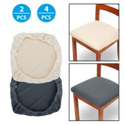 2/4Pcs Stretch Spandex Chair Seat Covers - Removable Washable Anti-Dust Dining Chair Seat Protector Cushion Slipcovers for Dining Room, Kitchen, Office