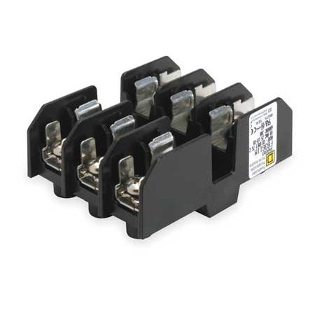 Fuse Block, Midget and CC Class, 30A, 3 Pol SQUARE
