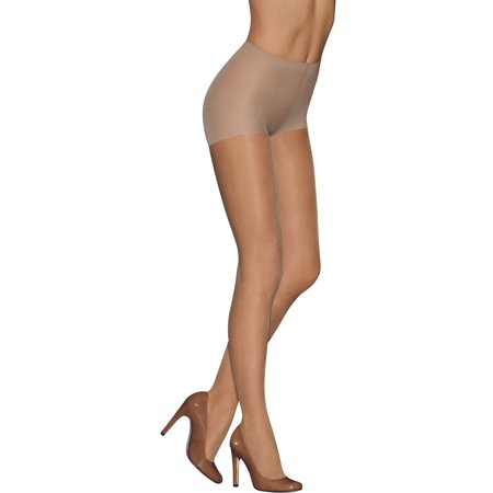 Hanes L'eggs Women's Medium Support Reinforced Toe Control Top Pantyhose, 2 Pair ()