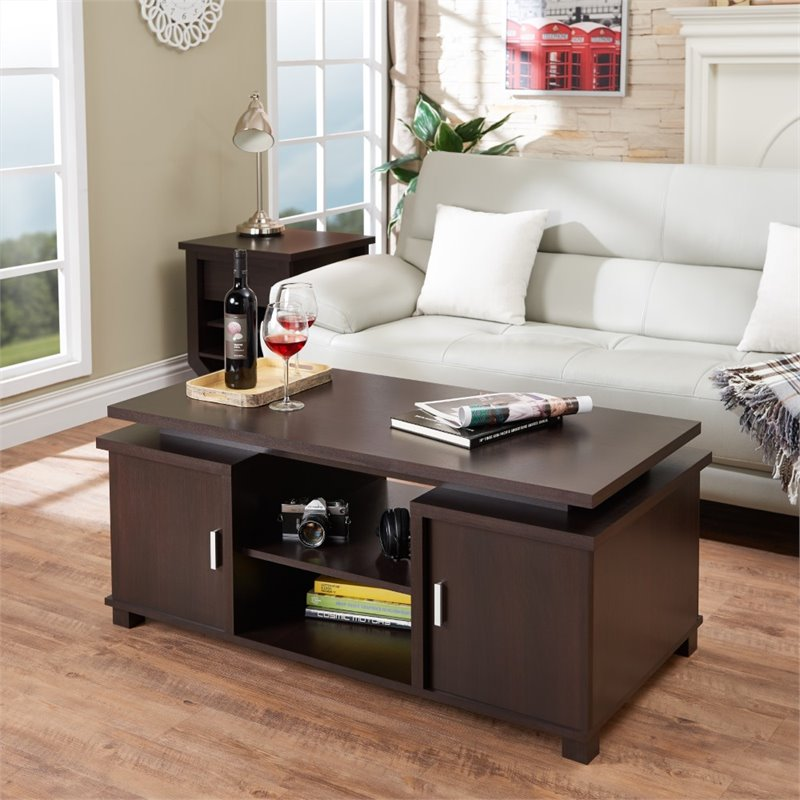 Furniture of America Delaney Coffee Table in Espresso by Furniture of America
