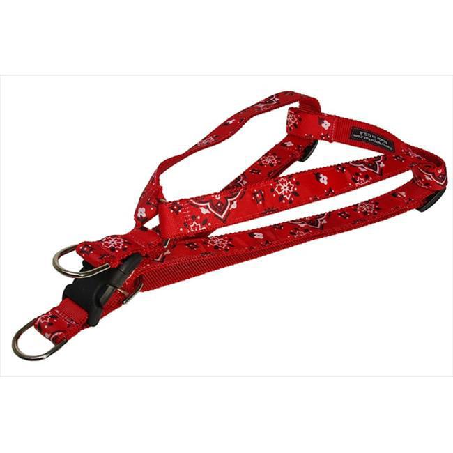 sassy dog wear bandana red2-h bandana dog harness, red - small