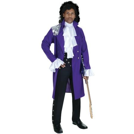 Prince Purple Rain Costume Wig Set Jacket Jabot Glasses Wig Adult Men'S One  Size