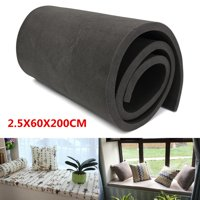 High Density Foam Cushion, Upholstery Foam Sheet, Foam Padding Replacement Sofa Seat ,(1''X24''X79'')Black color
