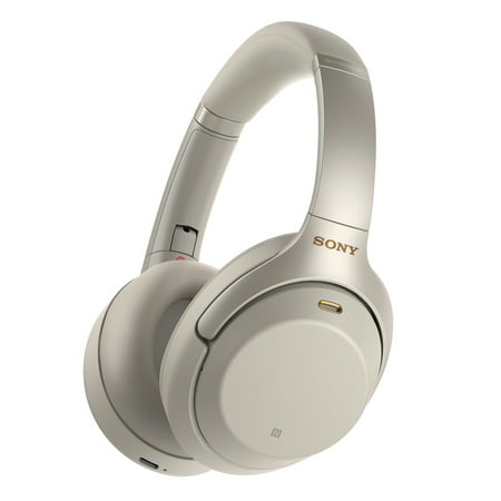 Sony WH1000XM3 Wireless Noise Canceling Over-the-Ear Headphones with Google Assistant - Silver