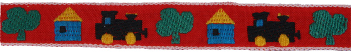"""4 Yds Baby Hobby Horse Rocking Horse Primary Woven Jacquard Trim Ribbon 5//8/""""W"""