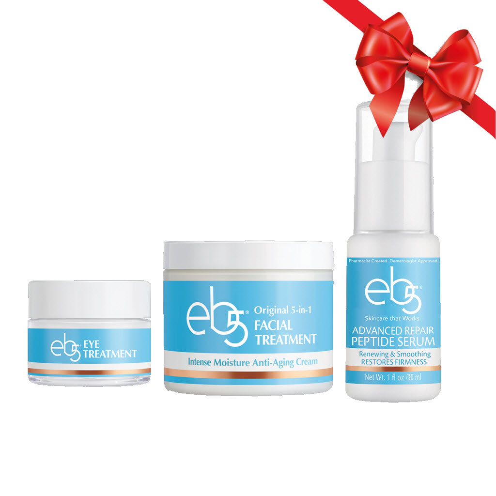 ($58 Value) eb5 Cold Weather Kit, Serum, Face Moisturizer, and Eye Cream