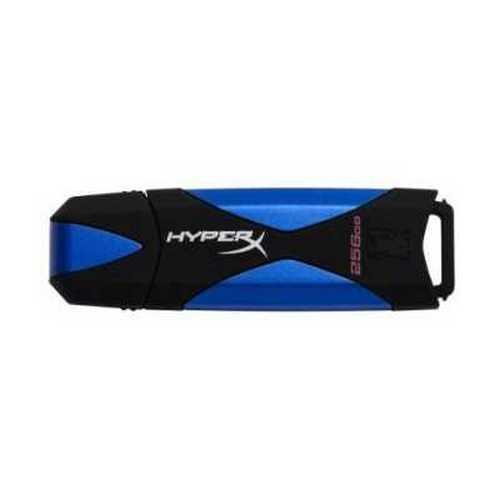 Kingston 256GB DataTraveler HyperX USB 3.0 Flash Drive - 256 GB - Blue, Black