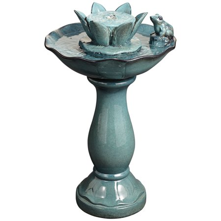 John Timberland Modern Outdoor Floor Water Bubble Fountain 25 1/4